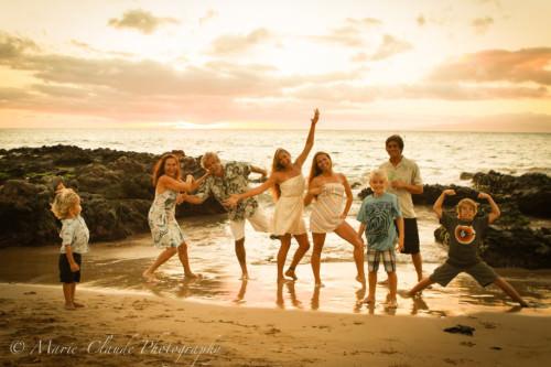 Maui Kamaole III Beach Park Family Portrait