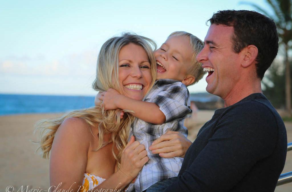 Family Portrait at the beach, Maui North Shore