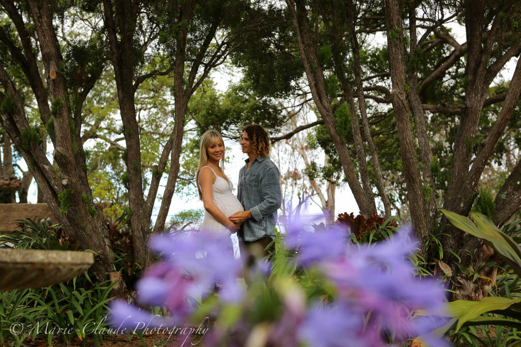 Beautiful Pregnancy Portrait at Maui Winery