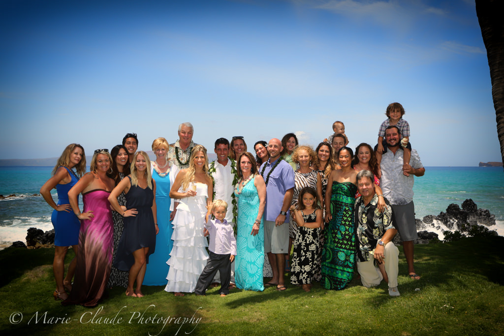 Maui Wedding, Family Portrait