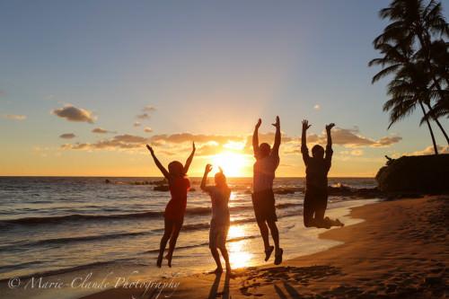 Maui Sunset Jump, White Rock Maui South Side