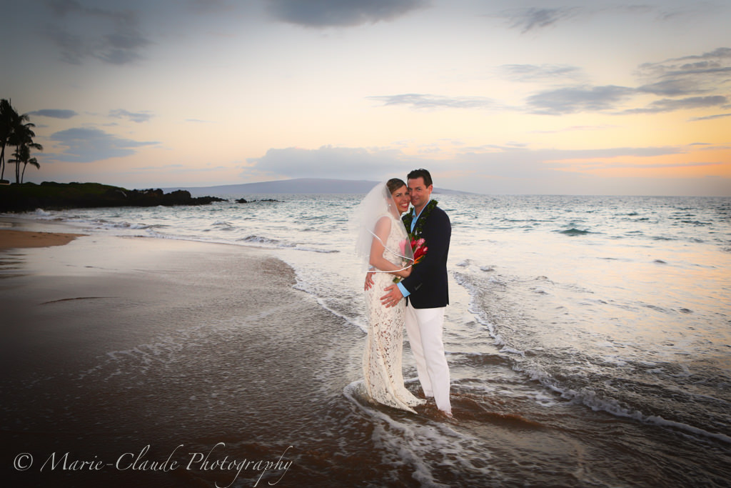 Romantic Sunset Maui Wedding